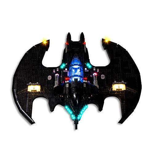 SICI Juego de iluminación LED para Lego Batwing 76161, iluminación compatible con el modelo Lego Batwing de 1989 (no incluye el juego Lego).