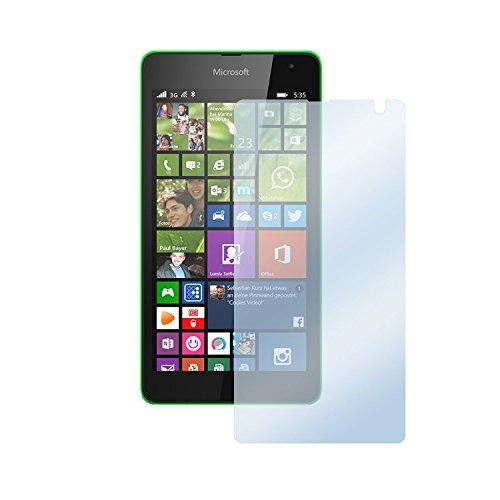 deinPhone Microsoft Lumia 535 1x Bildschirmschutzfolie Folie Matt Anit Fingerprint