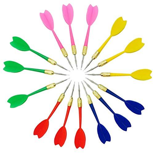 Metal Tip Dart, Kunststoff Dartpfeile Metallspitze Mehrzweck Party Spielzeug Tip Dart Game Darts für Partys, 15 Stück