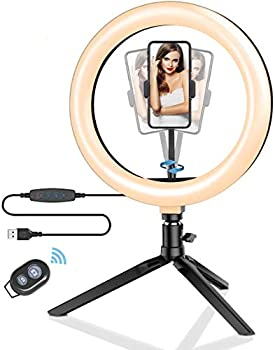 BlitzWolf 10.2 Inch LED Ring Light with Stand and Phone Holder