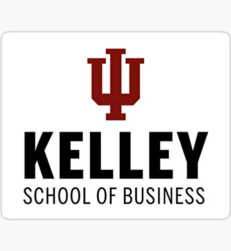 Pack of 6-2' Stickers -Indiana University Kelley School of Business Sticker