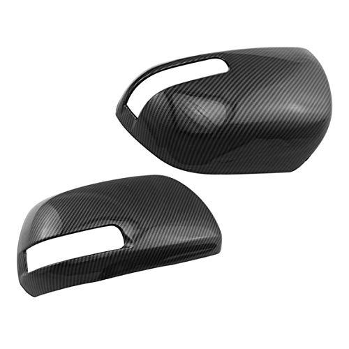 DJQNB Tapa de Espejo retrovisor, para 2010-2018 ABS de Fibra de Carbono, afuera, Espejo de ala, Tapas de Espejo.