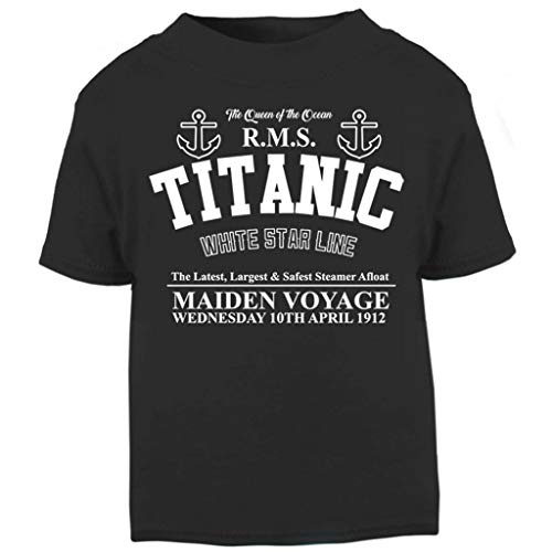 Cloud City 7 Titanic Maiden Voyage Baby and Toddler Short Sleeve T-Shirt