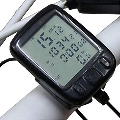 Dfghbn Fahrrad-LED-Fahrrad-Fahrrad-Fahrrad-Fahrrad-Geschwindigkeitsmesser, Fahrrad-Computer (Farbe: Schwarz, Größe: One Size)