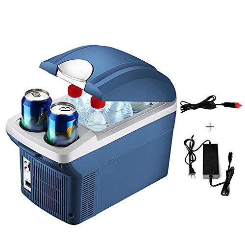JWC Car Mini Fridge, Super Low Voice Cold Storage Dual-use Energy Saving 8.5L Large Capacity Heating 65℃ Smart Chip One Key Operation, for Indoor Outdoor