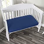 EVERYDAY-KIDS-2-Pack-Fitted-Crib-Sheets-100-Soft-Microfiber-Breathable-and-Hypoallergenic-Baby-Sheet-Fits-Standard-Size-Crib-Mattress-28in-x-52in-Navy-Nursery-Sheet-and-Gray-Nursery-Sheet