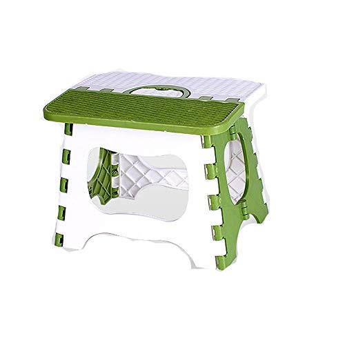 YFOX Taburete plegable,capacidad de carga máxima de 60 kg,reposapiés para niños,taburete de baño,taburete portátil antideslizante que ahorra espacio,ayudas para la escalada para niños y adultos(verde)