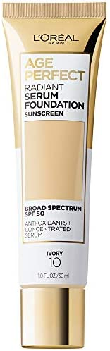 L Oreal Paris Age Perfect Radiant Serum Foundation with SPF 50 Ivory 1 Ounce product image