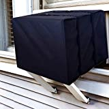 ALPINE HARDWARE Outdoor Window AC Covers [Window Air Conditioner Protection Cover] (Black, 19' x 27' x 25')