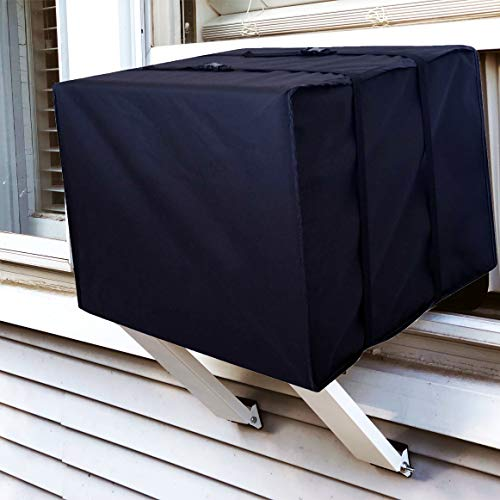 ALPINE HARDWARE Outdoor Window AC Covers [Window Air Conditioner Protection Cover] (Black, 15' x 21' x 16')