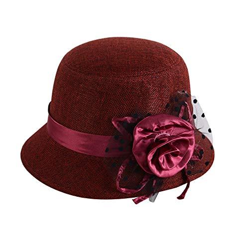YUHUALI 2019 Neue Hut koreanische Version von Herbst und Winter Damen britischen Hut Blumentopf Kappe