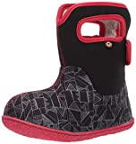BOGS Baby Waterproof Insulated Snow Boot, Maze Geo -Black Multi, 5