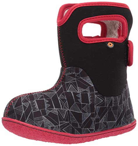 BOGS Baby Waterproof Insulated Snow Boot, Maze Geo -Black Multi, 6