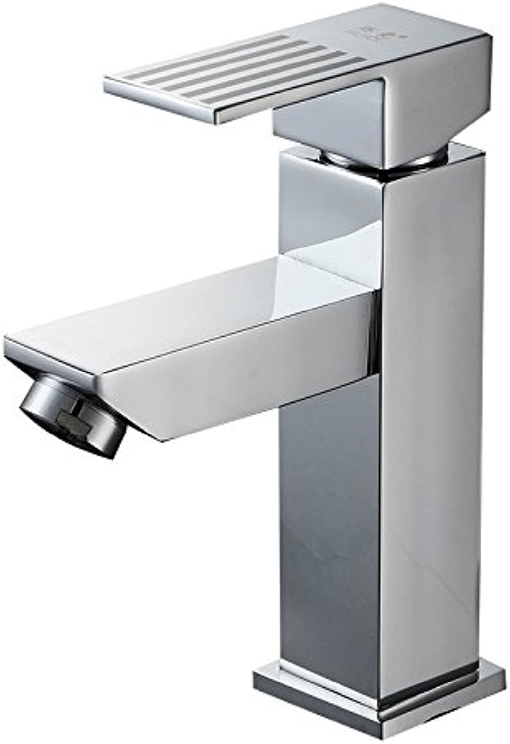 redOOY Taps All-Copper Square Single Single Hole Hot And Cold Basin Faucet Copper Hot And Cold Faucet Above Counter Basin Faucet