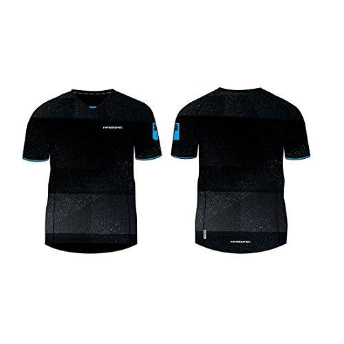 HAIBIKE Freeride T-Shirt à Manches Courtes pour Homme Medium Noir/Bleu.