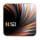 Mogzank H50 TV Box Android 10 4GB 32GB 4K H.265 Reproductor Multimedia 3D Video 2.4G 5Ghz WiFi TV Box Inteligente Decodificador Enchufe de la UE