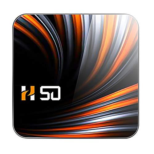 SNOWINSPRING H50 TV Box Android 10 2GB 16GB 4K H.265 Reproductor Multimedia 3D Video 2.4G 5Ghz WiFi TV Box Inteligente Decodificador Enchufe de la UE