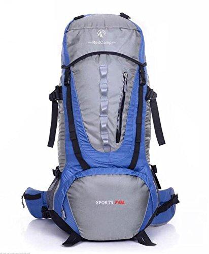 sac à dos randonnée professionnels de grande capacité sac escalade en plein air de camping voyage Voyage hommes et les femmes sac à dos étanche 70L Sacs à dos de randonnée ( Couleur : Bleu , taille : 70L )