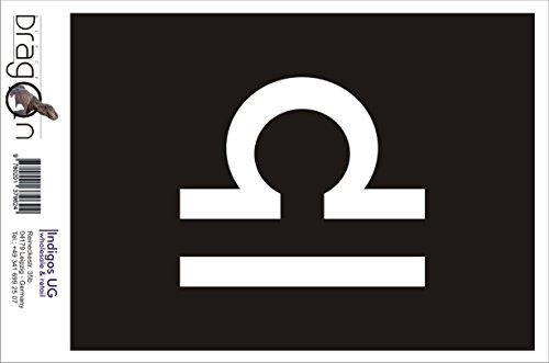 INDIGOS UG Aufkleber Autoaufkleber - JDM Die Cut Auto OEM - Waage Sternzeichen - 140x120 mm pink - Auto Laptop Tuning Sticker Heckscheibe LKW Boot
