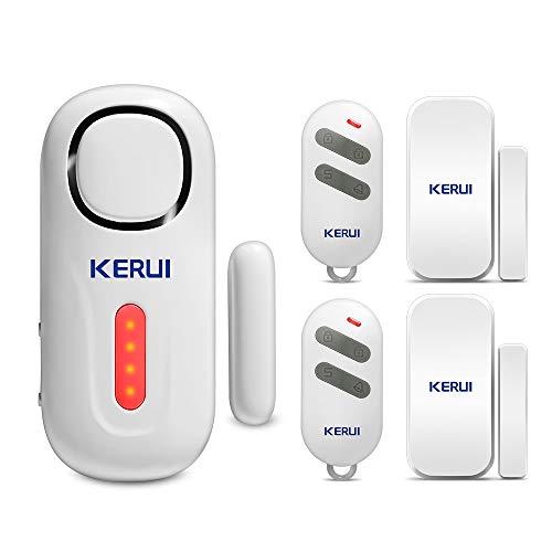 KERUI Funk Tür und Fenster sensoren mit Batterie Erweiterbar Sicherheit Alarmanlage Einbruchschutz fur Haus Tür Fenster Alarm mit Fernbedienung