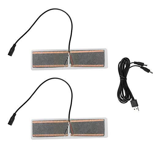 Heizung Fuß Erwärmung Pad, 1 Paar 5 V USB beheizt Tablet Frauen Männer Winter Einlegesohlen Schuhe Wärmer Heizkissen, elektrische Carbon Heizung Blatt für Schuhe Kleidung