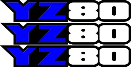 Yamaha Yz80 Swingarm Airbox Number Plate Decals Stickers Yz 80 Graphics Dirtbike