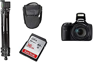 CanonPowerShot SX540 HS + Tripod + SanDisk Ultra SDHC 16GB Memory Card + Carry Case Bundle Kit