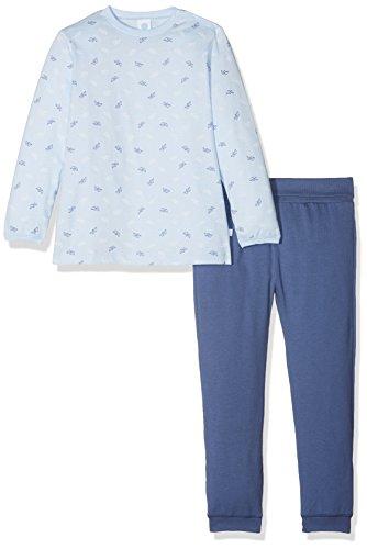 Sanetta Sanetta Baby-Jungen 221387 Zweiteiliger Schlafanzug, Blau (Light Blue 50137), 74