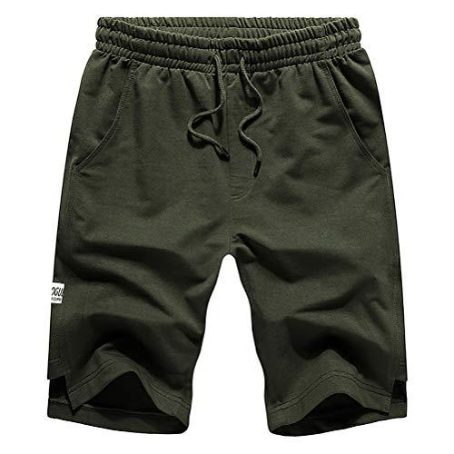 Whittie Shorts D'été Grande Taille pour Hommes Pantalon Cinq Points Multicolore Pantalon Décontracté Pantalon Court De Plage,Green,S
