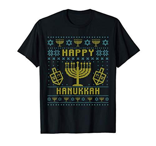 Ugly Hanukkah Happy Christmas Jewish Chanukah Hanukkah Gift T-Shirt