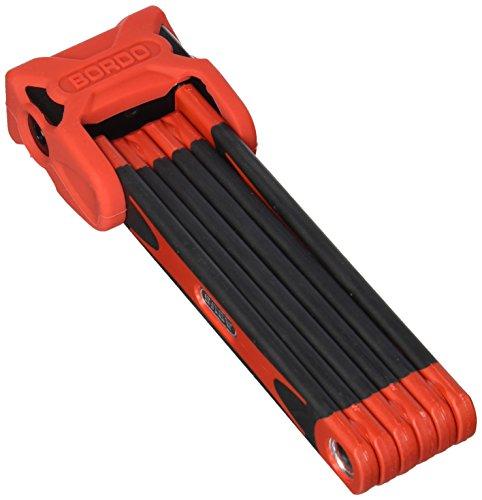 ABUS Faltschloss Bordo 6000/90 mit Halterung - Fahrradschloss aus gehärtetem Stahl - ABUS-Sicherheitslevel 10 - Länge 90 cm - Rot