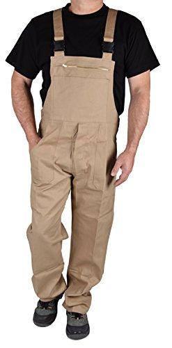 Stabile Heimwerker Arbeits-Latzhose Arbeitshose Arbeitskleidung - IW023 (56, Beige)