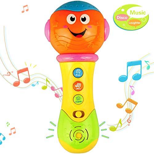KITY Spielzeug Baby ab 0-12 Monate, Kinder Mikrofon Spielzeug Mädchen 0-4 Jahre Weihnachts Geschenke für Jungs 3-12 Jahre Kinder Spielzeug Jungen Geschenk Mädchen 0-4 Jahre (Orange)