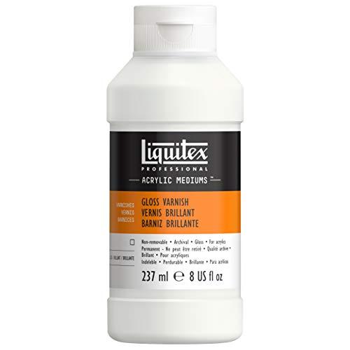 Liquitex 6208 Professional Glanz Firnis für Acrylfarben, Archivqualität, vergilbt nicht, trocknet klar auf - 237 ml Flasche