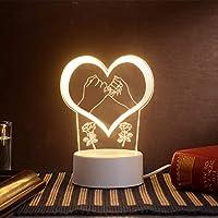 §Soloplay アクリル テーブルランプ LEDベッドサイドランプ デスクランプ 暖かい光 卓上ライト ルームライト 寝室ライト 常夜灯 枕元ライト ナイトライト インテリア おしゃれ 間接照明 寝室 書斎 居間 オフィス バレンタイン