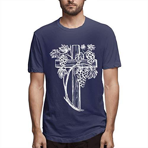 Camisetas Personalizadas Casuales para Hombre The Cross and The Vine de Manga Corta,6XL