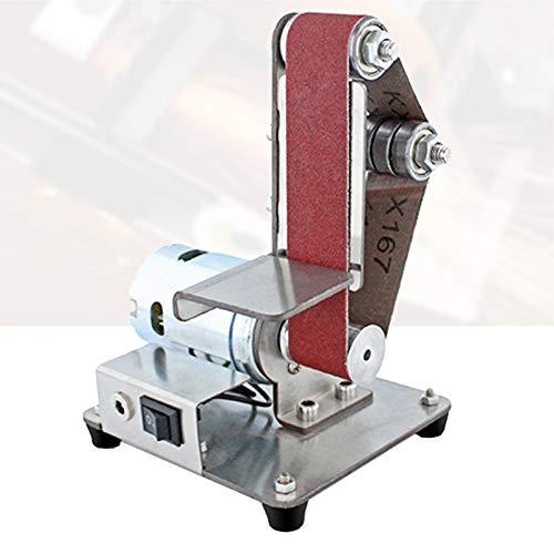 Enwebalay Vertikale Schleifmaschine,Mini Bandschleifer,7-Gang-Einstellung,Leistungsstarker Motor,Wenig Lärm für Holz-, Bodhi-, Acryl-, Metallschleifen,775 Motor