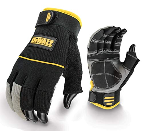 DeWalt FRAMER Gants de travail Demi-doigts Noir/jaune (Import Grande Bretagne)