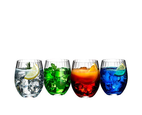 Riedel Mixing Tonic - Vasos de cóctel (4 unidades), transparente