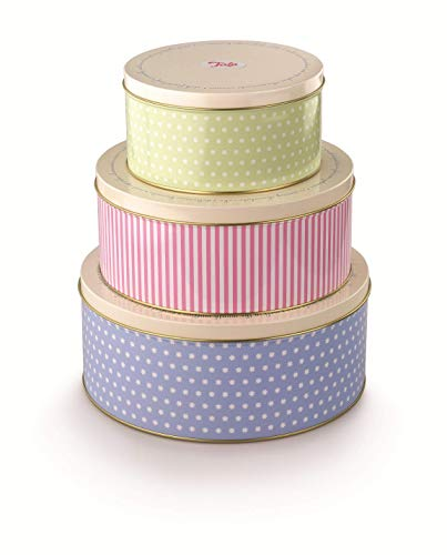 Tala Retro Design Round Cake Tins - 3 Pack