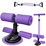 genrice Super Suction Large Suction Cup sit up Exercise Equipment with Resistance Bands Assistant...