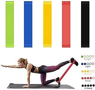 BKSDMAN Gomas elásticas musculacion Bandas elasticas Cintas elasticas Fitness 5 Tipos de Fuerza adecuados para la construcción Muscular Pilates Yoga