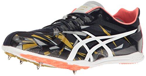 ASICS GUNLAP Track Shoe, Dark Navy/White/Vermillion, 12.5 M US