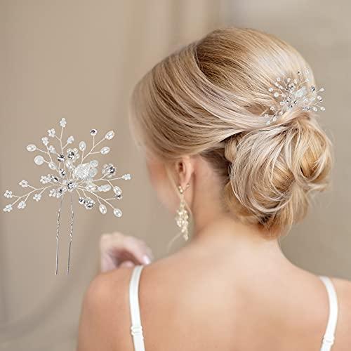 Goldzweig Hochwertiger Haarschmuck für die Braut zur Hochzeit I Haarnadel mit edlen Details I Einfache Befestigung & Perfekter Halt in offenem und geschlossenen Haar I Haarkamm Brautfrisur