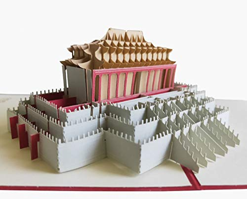 Handgemachte 3D-Pop-up-Karte Hall of Supreme Harmony, Verbotene Stadt in Peking, China Geburtstag, Hochzeitstag, Valentinstag, neue Heimatparty