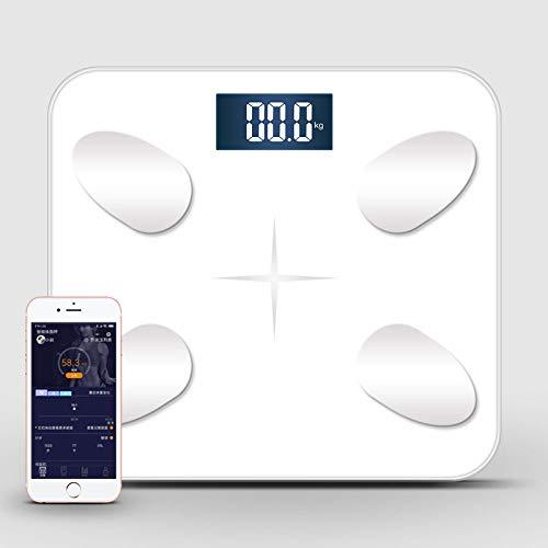 CFFDDE weegschaal, personen met app, 79 gezondheidsgegevens, spraakoverdracht, voor gewichtsverlies, fitness tracker, meerdere gebruikers kunnen toevoegen wit