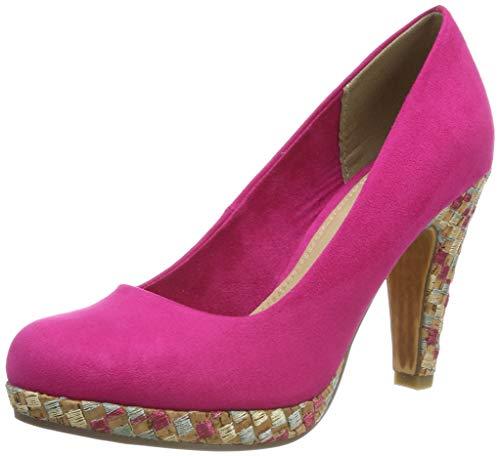 MARCO TOZZI Damen 2-2-22423-32 Plateaupumps, Pink Comb 514, 38 EU