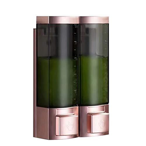 Lotiondispenser, Lege Zeepdispenser Aanrecht Wandzeepdispensers Dubbele kop ABS Vloeibare zeep Pomp Etherische oliën Flessen Shampoo Container Fles