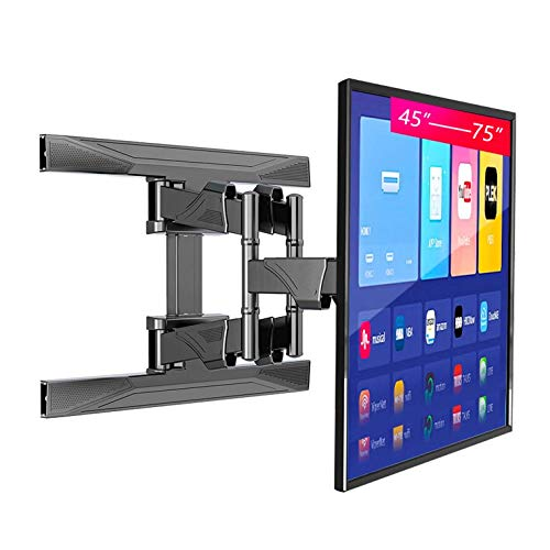 Soporte Universal para Monitor Pared para TV con Brazos Articulados para Pantalla Plana 45-75', Soporte para TV con Rotación Extensión Inclinable, VESA Máx. 600X400 Mm hasta 100 Libras