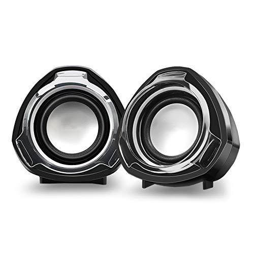 YRC Subwoofer 3D Sround Sound Sound Hovoder, utilizando un diseño de Altavoz Dual controlado por Cable USB, Cable, Compatible con Varios Dispositivos de conexión de 3.mm, y Calidad de Soni